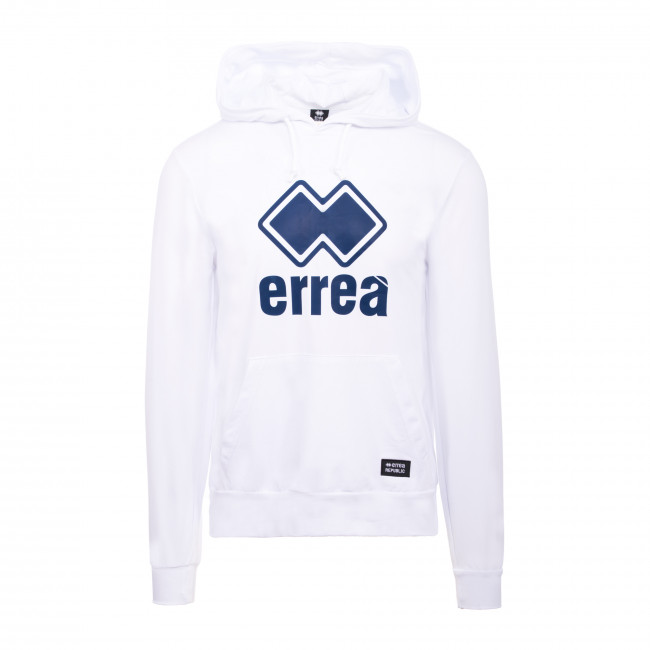 ESSENTIAL SS20 MAN BIG LOGO HOODY 006 JR BIANCO - REPUBLIC
