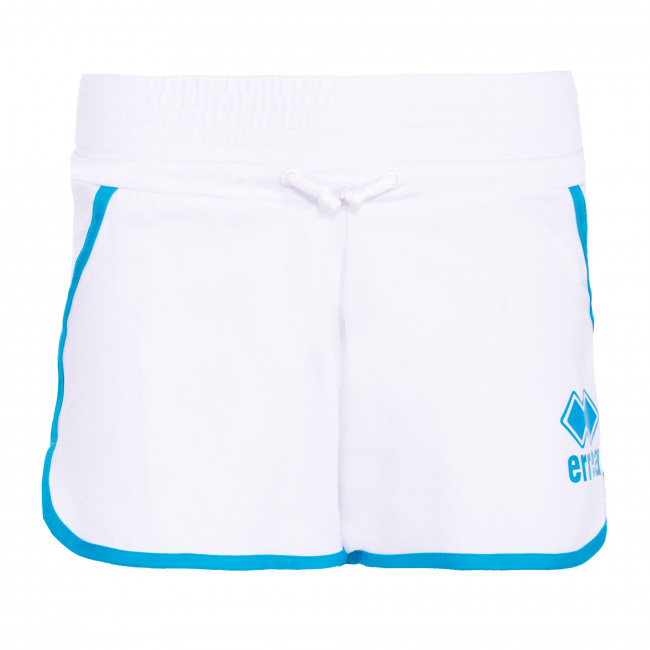 ESSENTIAL SS20 WOMAN LOGO HOT PANT 104 AD BIANCO - REPUBLIC