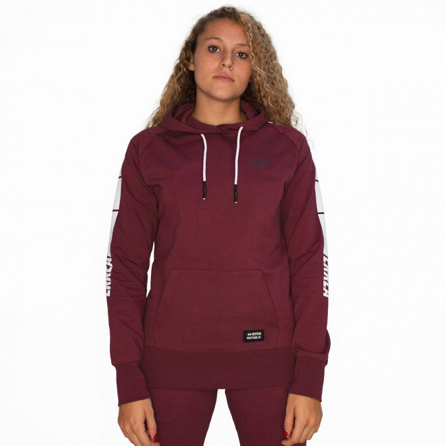 SPORT INSPIRED FW20/21 SWEATSHIRT WOMAN 004 AD BURGUNDY 19_1528TPX-4 - REPUBLIC