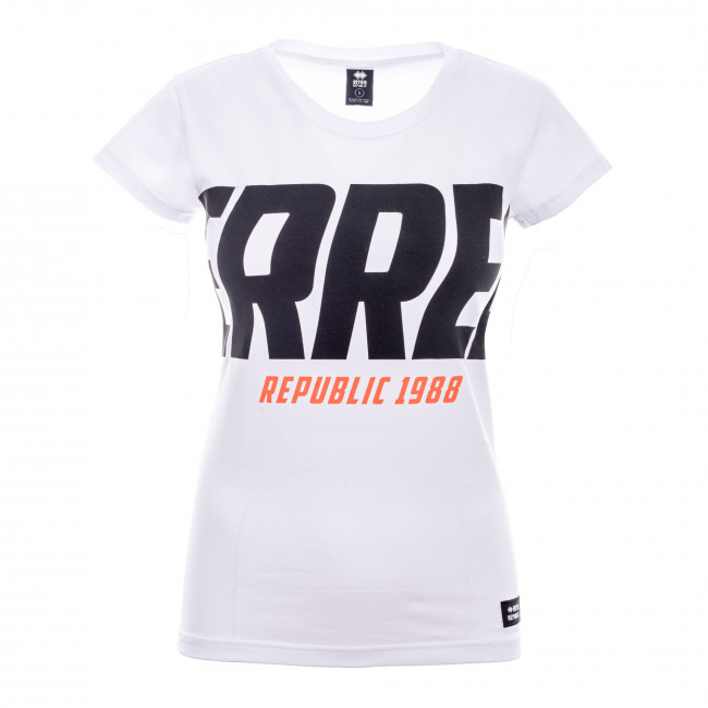 GRAPHIC FW20/21 WOMAN T-SHIRT 001 MC AD BIANCO - REPUBLIC