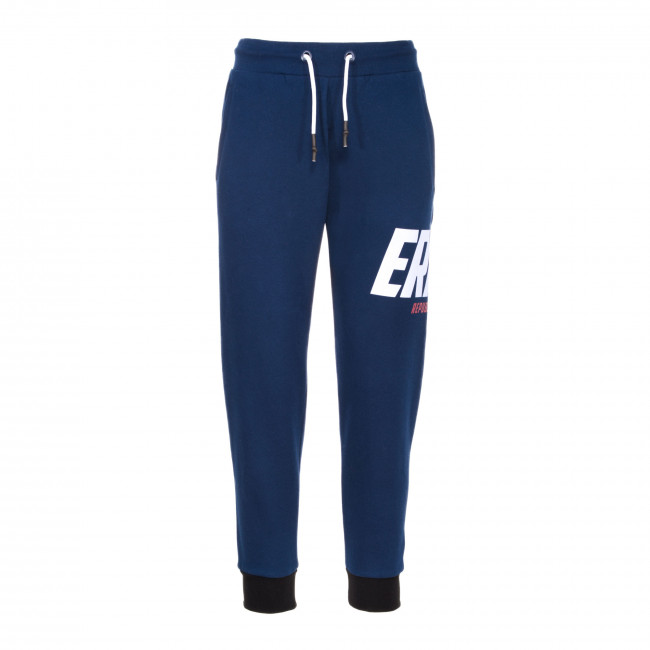 GRAPHIC FW20/21 WOMAN CUFF TROUSERS 003 AD BLU - REPUBLIC