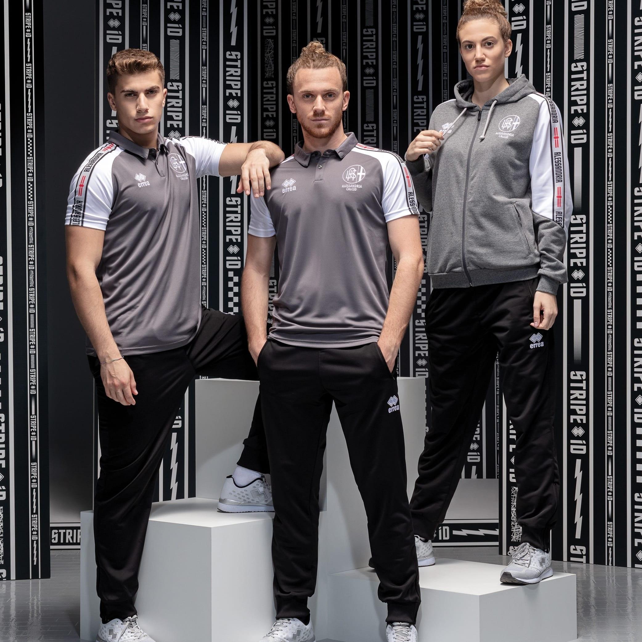 News - Alessandria Calcio wears the new Stripe iD team and leisurewear  range by Erreà Sport - Erreà