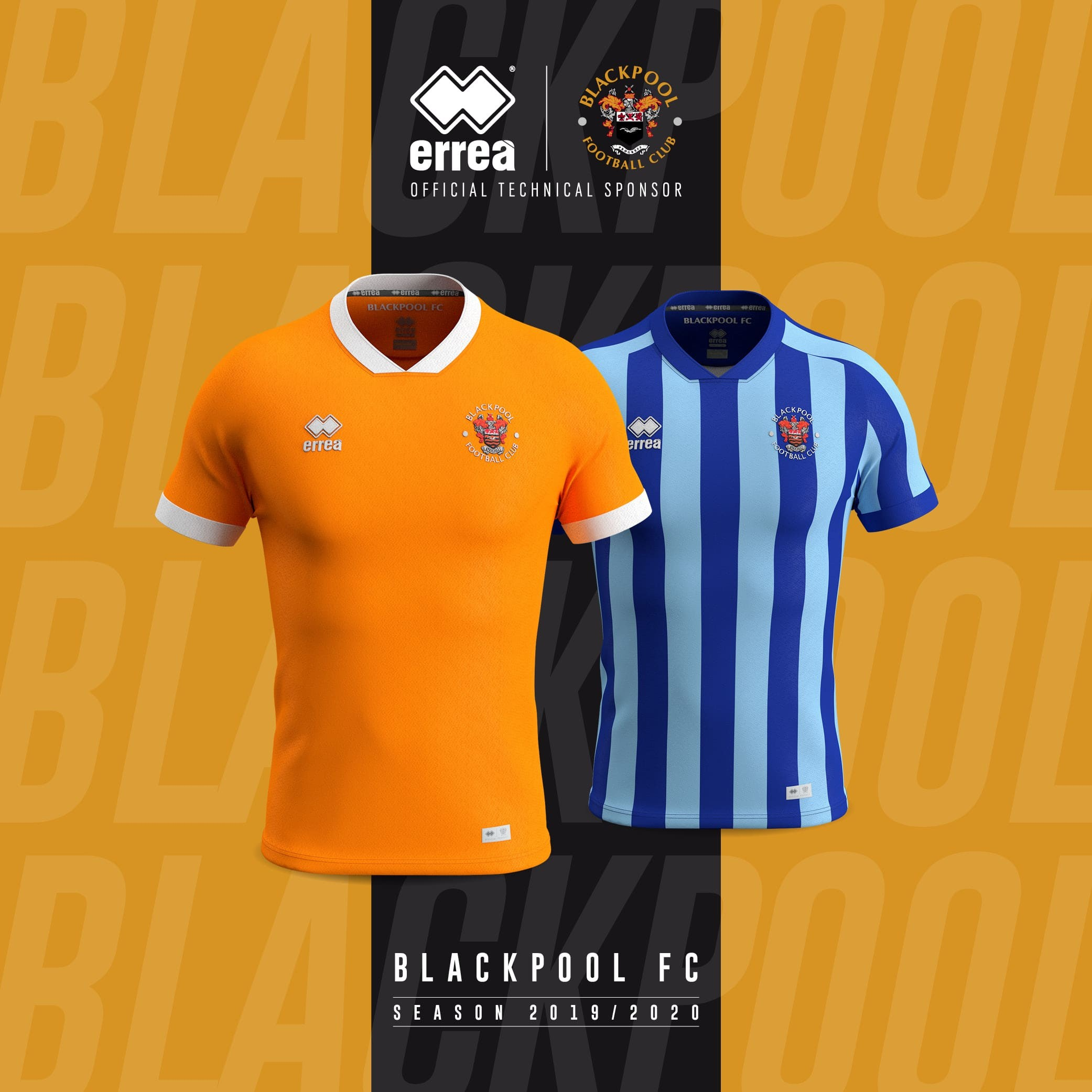 News Elegance And Simplicity For Blackpool Fc S New Official Kits For 2019 2020 Errea