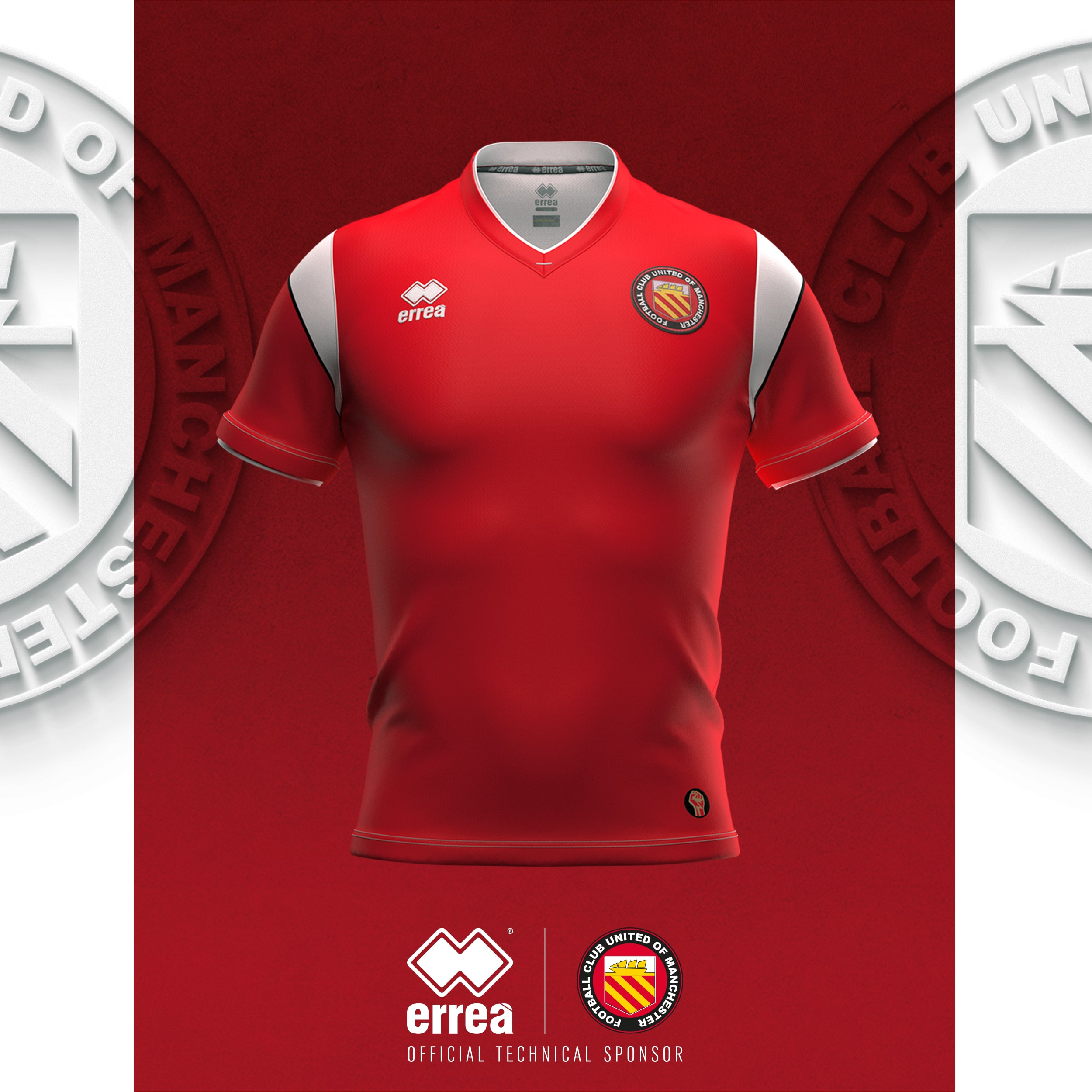 news the fans dreams come true here is the new f c united of manchester shirt for the 2020 2021 season errea news the fans dreams come true here